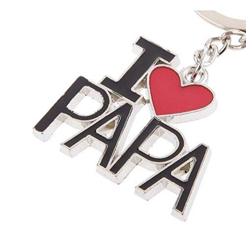 Outflower I Love Papa Portachiavi in Metallo Regali creativi per la Moda Gadget Chiave per Auto Regali per la Festa del papà - 5