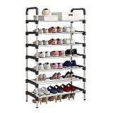 UDEAR Range Chaussures 7 Étages Organisateur de Rangement de Chaussures Noir 56 * 30 * 127 cm
