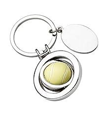 Idea Regalo - Ten Portachiavi Pallina da Tennis - cod. EL7498 - Lun.7,6 cm - Lar.3,5 cm - Alt.1 cm by Varotto & Co.