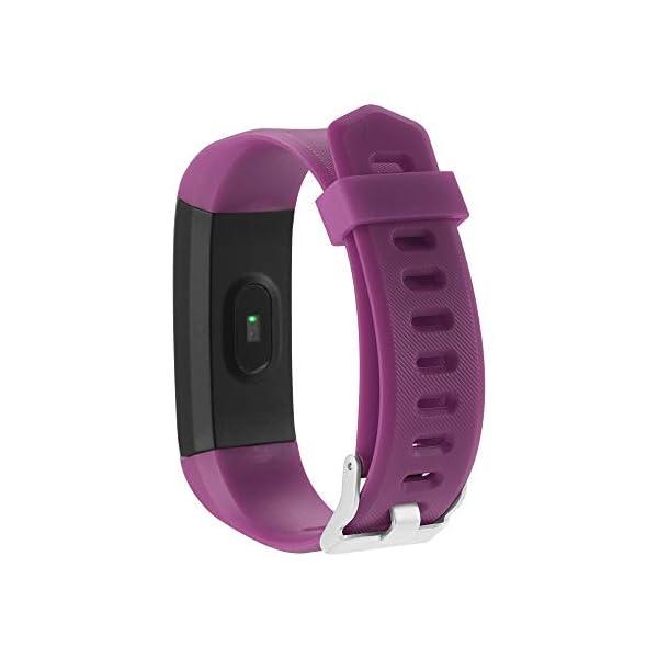 115plus Fitness Tracker Pulsera inteligente Pantalla a color Bluetooth Reloj deportivo Monitor de frecuencia cardíaca / presión arterial Podómetro Paso Contador de calorías Púrpura AC1423. Accesorios 6