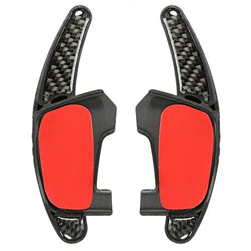 TINTABO Paar Auto Paddle Shift Extension Gangschaltung Lenkrad Extension Pedal Carbon, für VW Golf MK7 GTI GTD
