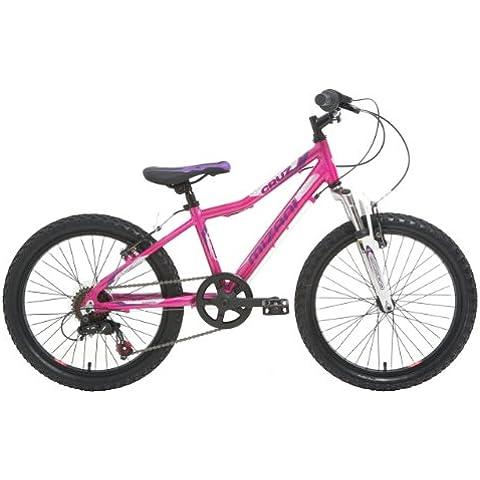 Mizani Cruz - Bicicleta infantil MTB para niña, 5-7 años, color rosa