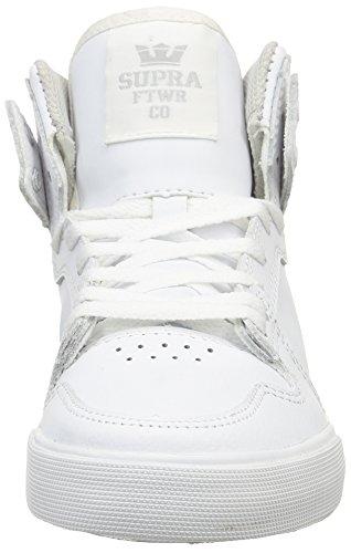 Supra Vaider, Sneakers, unisex Bianco (Blanc (White/White))