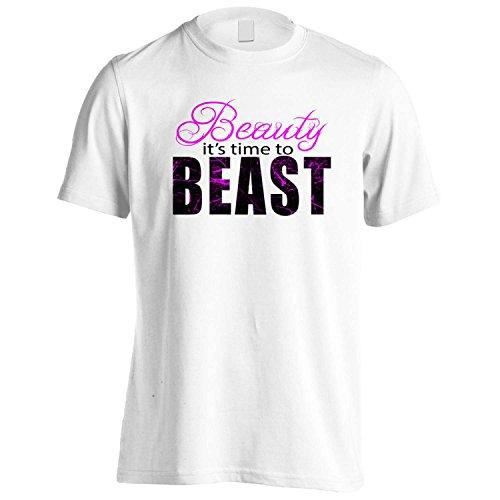 Bellezza è il momento di BESTIA novità divertente Uomo T-shirt bb2m White