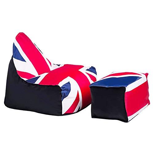 YJchairs Sitzsack Faules - Sofa Ergonomie EPS Mehrzweck England Rica-Flagge Sitzplatz zum Kind...