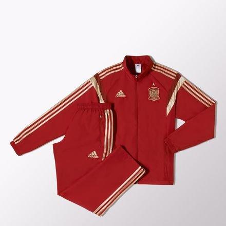 adidas Spanien Sport Freizeit Anzug rot FEF Presentation Suit Fanartikel Weltmeisterschaft 2018, - Anzug Adidas Herren Rot