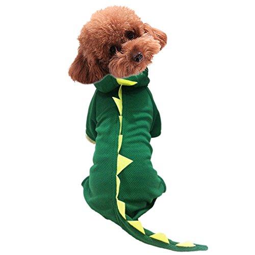 Süßer Dinosaurier-Hund Haustier-Kapuzenpulli Kleider Halloween-Hund Kostüm Plus Size Anzug Teddy Dressing up Party Kleidung XS-XL