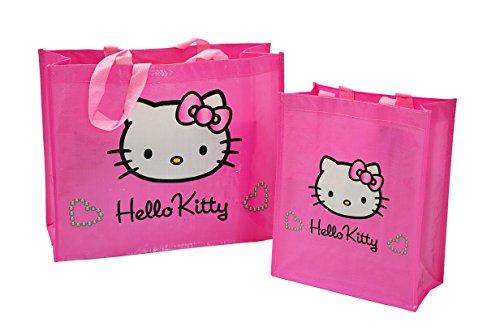 Hello Kitty Damen oder Mädchen Taschen Set, Strandtasche/Shopper / Umhängetasche
