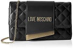 Idea Regalo - Love Moschino Borsa Quilted Nappa Pu Tracolla Donna, (Nero), 6x14x23 cm (W x H x L)