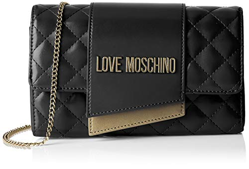 d922a5a2be Love Moschino Borsa Quilted Nappa Pu, Women's Cross-Body Bag, Black (Nero