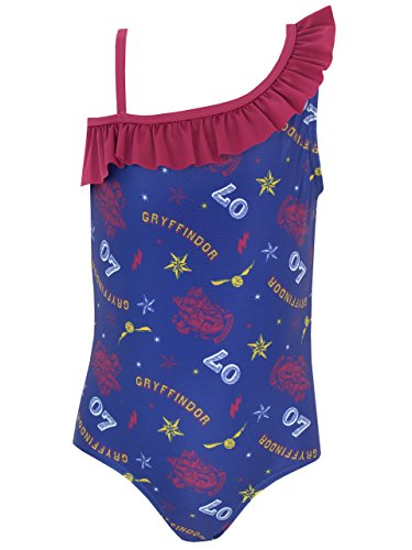 Harry Potter Girls Gryffindor Swimsuit Ages 4 To 14 Years