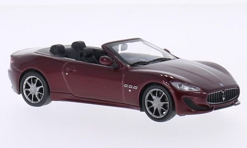 Maserati Grancabrio Sport, dunkelrot, 2013, Modellauto, Fertigmodell, WhiteBox 1:43 (Auto Maserati)