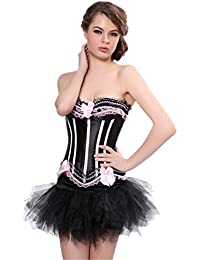 Autek Sexy Ladies couleurs sexy des femmes Overbust Corset et jupe tutu costume Ladies Deluxe Fancy Dress Corset-AK