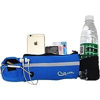 WOSON Sport Hüfttasche mit Flaschenhalter Wasserdicht Sweatproof Trinkgürtel mit Kopfhöreranlass für Handy iPhone 7, 6s, 6 Plus, 5, 5s / Samsung S7 - bis 6 Zoll