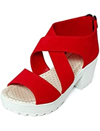 Meriggiare Women PU Red Heels