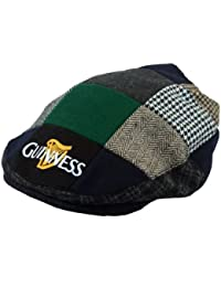 Guinness Official Merchandise Harp Embroidered Flat Cap Men's Hat