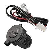 lujiaoshout 12V-24V impermeabile Cigarette Moto automobile e caricatore USB Presa per auto, Marine, moto, ATV, RV