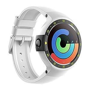 Ticwatch Reloj Inteligente S Glacier Pantalla OLED DE 1,4 Pulgadas, Compatible con iOS y Android como Xiaomi Huawei LG Motorola, Android Wear 2.0, Soporte Español