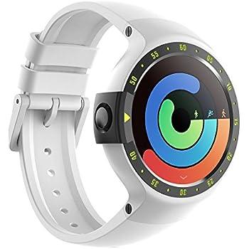 Ticwatch S Glacier Smartwatch Bluetooth Montre Connectée avec écran OLED 1,4 Pouces, Android Wear 2.0, Sportswatch Compatible avec Android et iOS, ...
