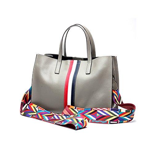 Plover Donna Pelle di mucca borsetta Totalizzatore Borse a tracolla Borsa Crossbody Fashion style Grey
