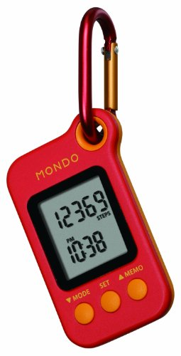 MONDO - STEP 3D Sensor Pedometer / Schrittzähler rot/orange