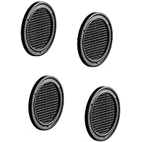 Gedotec Tür-Entlüfter gelocht Möbel-Gitter Belüftung Lüftungsgitter rund - H3609 | Kunststoff braun | Ø 50 mm | für Caravan & Möbel | 4 Stück