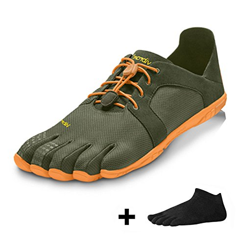 Chaussures à orteils vibram fiveFingers cVT lS - 2015-chaussures à orteils pour homme - Military Olive/Orange