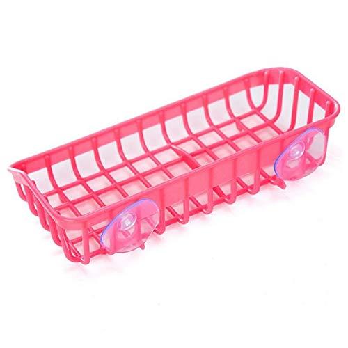 1 Stück Kitchen Sink Dish Schwamm Lagerung Inhaber Rack Küche Bad Regal Handtuch Seifenschale Halter Robe Haken Sucker Basket pink - Metall Gefrierschrank Für Rack
