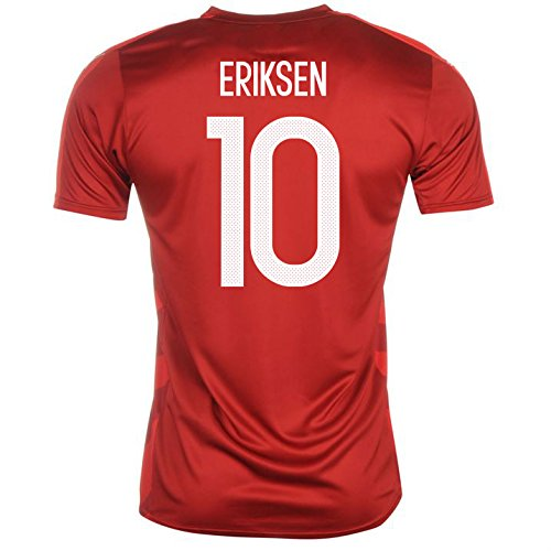 2016-2017 Denmark Home Football Soccer T-Shirt Camiseta (Christian Eriksen 10) - Kids