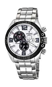 Festina F16583/1 - Reloj cronógrafo de cuarzo para hombre con correa de acero inoxidable, color plateado de Festina