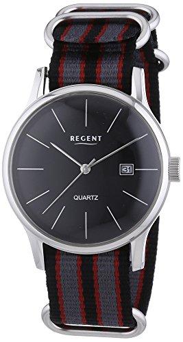Regent  - Reloj Analógico de Cuarzo para Hombre, correa de Tela color Multicolor