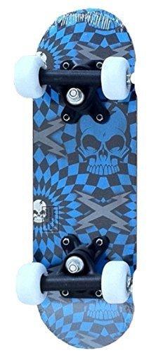 "Blue Skull Deck Via Kidz 16.5 ""Doppiocalcio Mini Skateboard"