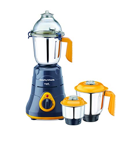 Morphy Richards Primo Classique 750-Watt Mixer Grinder (Grey/Orange)