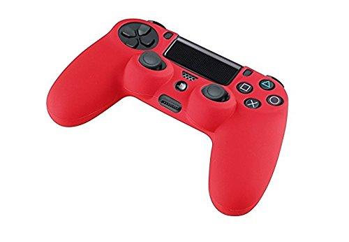 GAMINGER Protector suave de silicón de gel para Control Dualshock de Sony PlayStation 4 PS4 - rojo