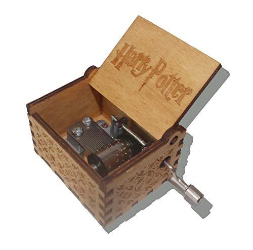 wishing Holz Spieluhr Harry Potter Musik Box Hand-hölzerne Spieluhr Kreative Holz Handwerk Holz Dekorative Box Reine Hand-Klassischen Weihnachtsgeschenke