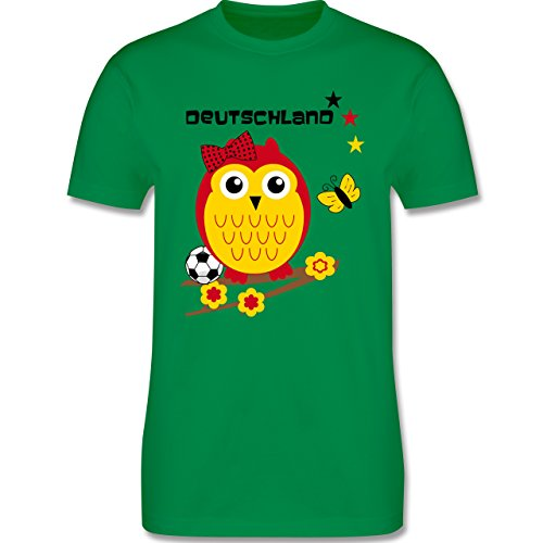 EM 2016 - Frankreich - Deutschland Eule - Herren Premium T-Shirt Grün