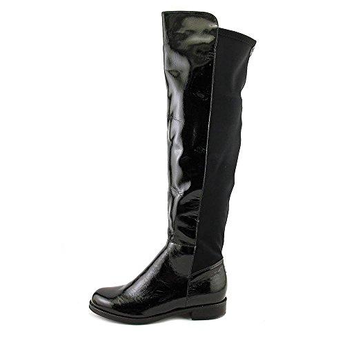 Aldo Dyanna Damen Rund Synthetik Mode-Knie hoch Stiefel Black