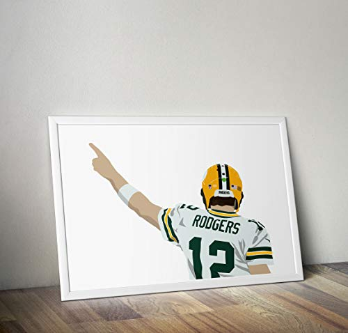 Aaron Rogers inspirierte Poster - Zitat - Alternative Sport/Amerikanischer Fußball Prints in verschiedenen Größen (Rahmen nicht im Lieferumfang enthalten)