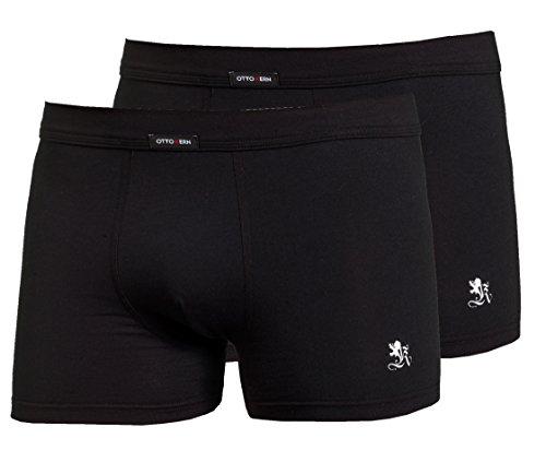 Otto Kern Underwear Herren Boxershorts Pants, 2er Pack, (Schwarz 26), Large (Herstellergröße: 6/L)