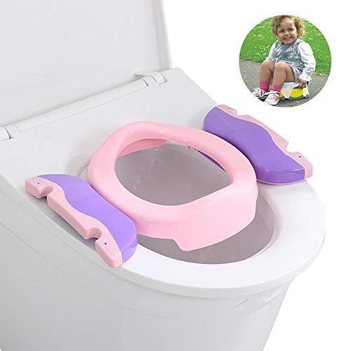 Geggur Vasino da Viaggio per Bambini, Riduttore WC Toilet Seat Baby Potty Chair con 10 Sacchetti di Plastica per la casa, Servizi igienici Pubblici