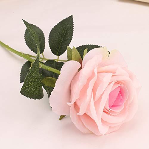 Yazidan Rose künstliche Blume Latex Real Touch Braut Hochzeit Bouquet Home Decor Rote Köpfe für künstliche Rose Knospen Blumen Rosen Blumen Kunstrose Rosenköpfe Hochzeit Party Dekoration