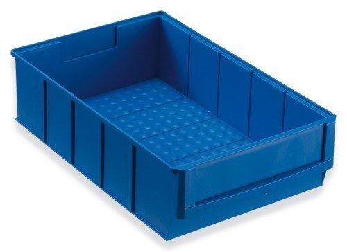 Preisvergleich Produktbild Stapelkiste Lagerkiste Lagerbox Universalbox Industriebox Lagerkasten Kunststoffbox Kunststoffkiste Aufbewahrungskiste Universalkiste 300x183x81mm blau