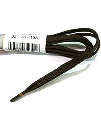 1 Par Ringelspitz Cordón negro - rendondo - fino - ? 2,5 mm - Negro, Unisex - Adultos, 75 cm