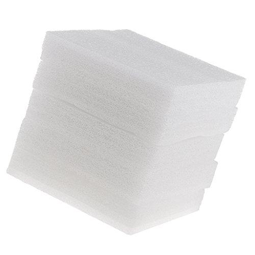 Homyl 5 Stück Schaumstoffunterlage zum Filzen Filzschwamm Unterlage zum Filzen – Weiß, 15x20mm