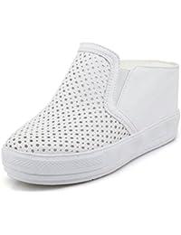 Easemax Damen Süß Gaze Mesh Hohle Spitze Plateau Loafers Sneakers Rosa 38 EU