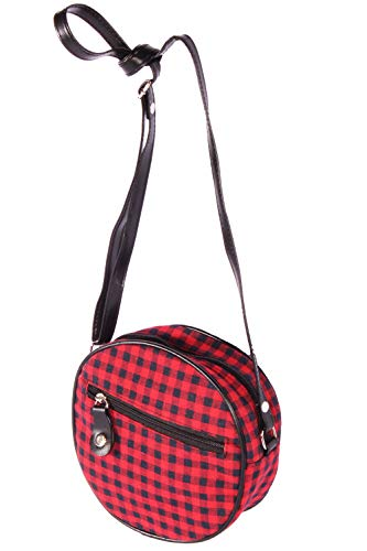 SugarShock Damen Gingham Roundbag 153274351 Rot One Size Rockabilly Gingham
