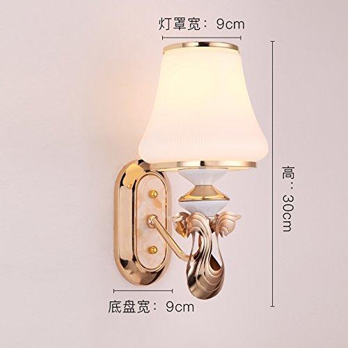 6 Watt COB LED Wand Leuchte Schlafzimmer Alu Glas klar satiniert Küchen Lampe