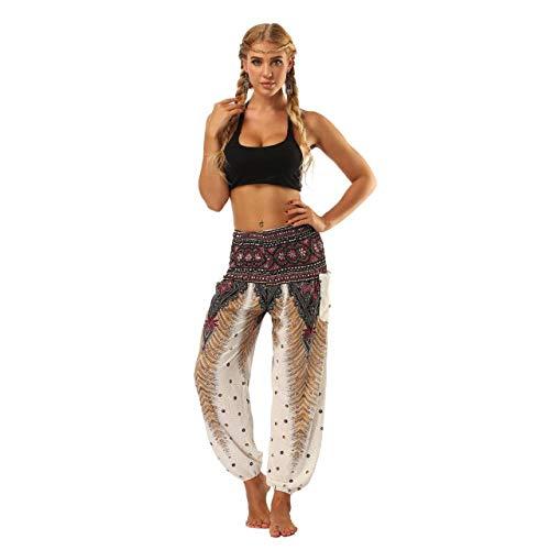 Kai&Guo Pantalones de Elefante Sueltos Sueltos Pantalones de Playa Sueltos Sueltos Pantalones de Playa del Festival Harem Hippie Boho Yoga Palazzo Yoga de Las Mujeres
