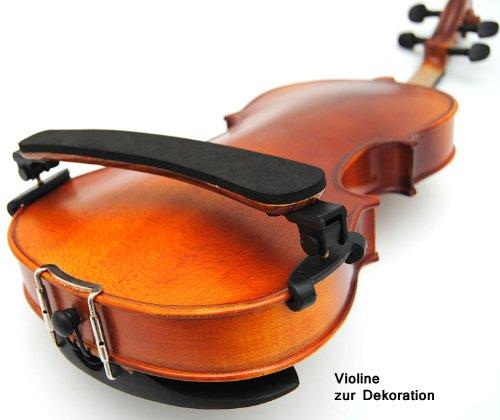 ts-ideen 6012 Schulterstütze für 1/8-1/4-1/2 Violine Geige Geigenstütze Holzoptik Shoulder