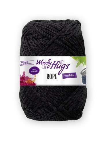 Woolly Hugs Rope Taschengarn (99 schwarz)